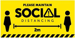 HygienePro Social Distancing Hanging Sign Single Sided